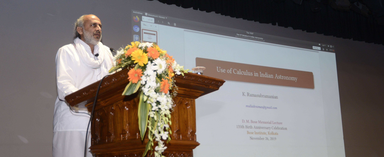 D M Bose Memorial Lecture 2019